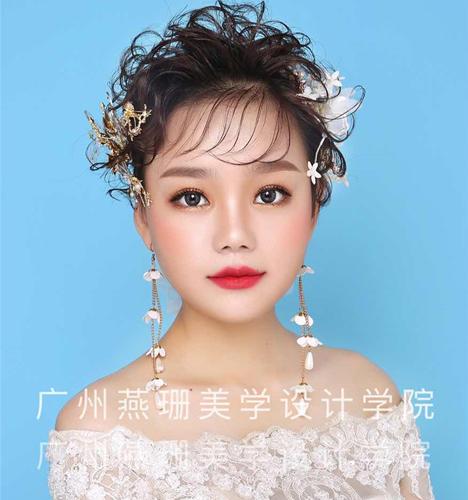 超短发新娘造型 化妆造型