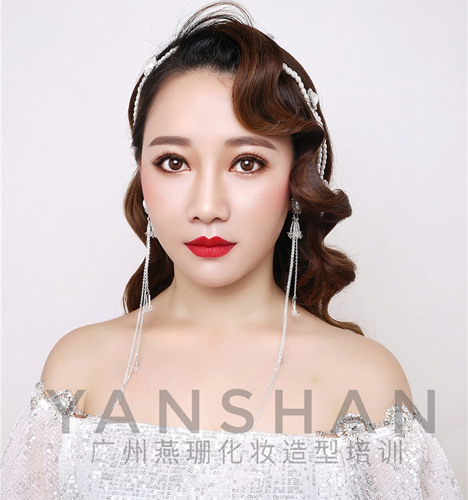 水波纹新娘造型 化妆造型