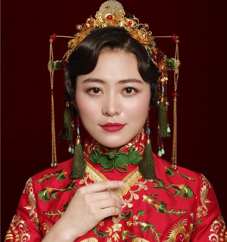 清新新娘妆容 化妆造型