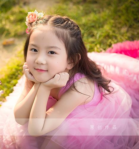 阳光女孩 儿童摄影
