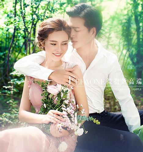 森系浪漫 婚纱照