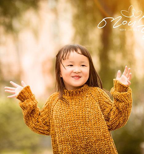 秋风落叶 儿童摄影