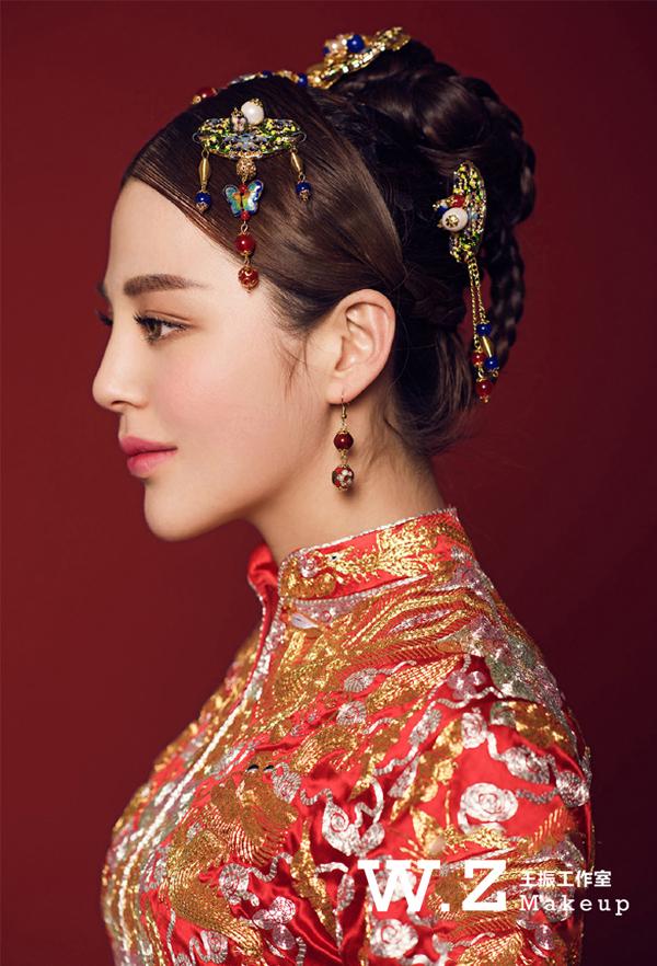 中式系列新娘妆容造型图片