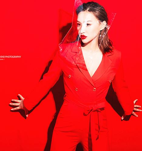 红色的时尚 写真摄影