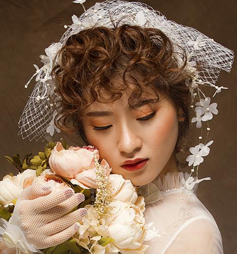 复古唯美新娘造型 化妆造型