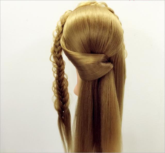 韩式新娘盘发造型步骤(二)图片
