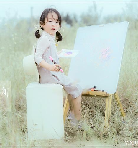 甜甜的小画板 儿童摄影