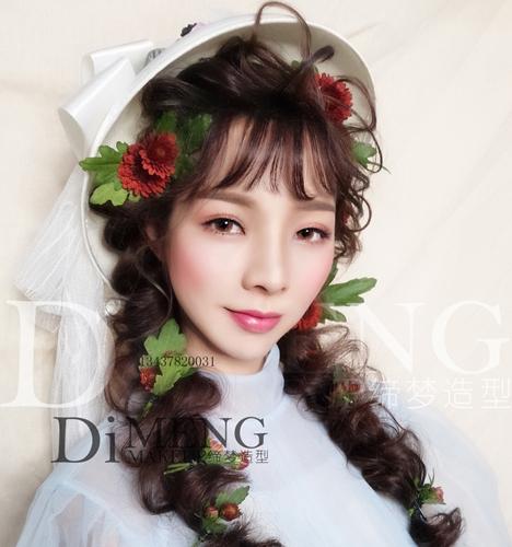 鲜花造型 化妆造型