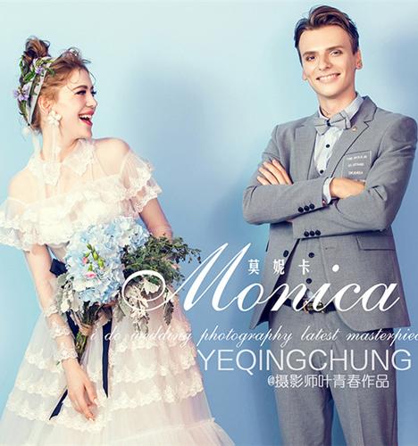 莫妮卡 婚纱照