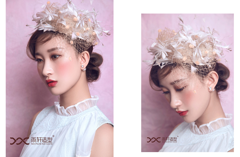 轻复古新娘 化妆造型