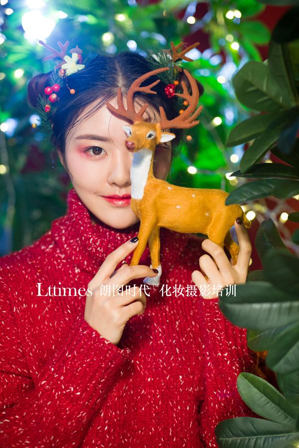圣诞节主题妆容造型欣赏