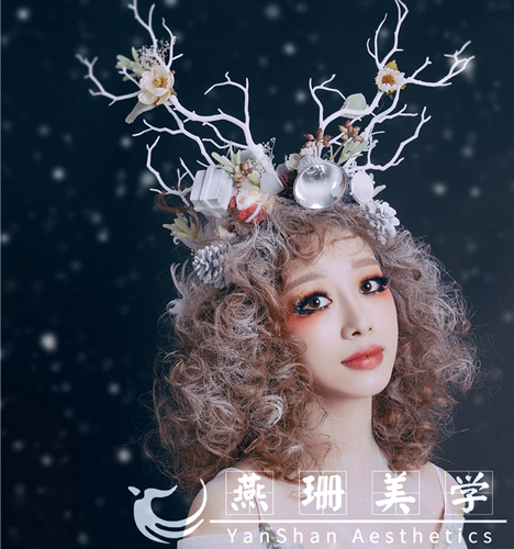 圣诞主题妆容造型 化妆造型