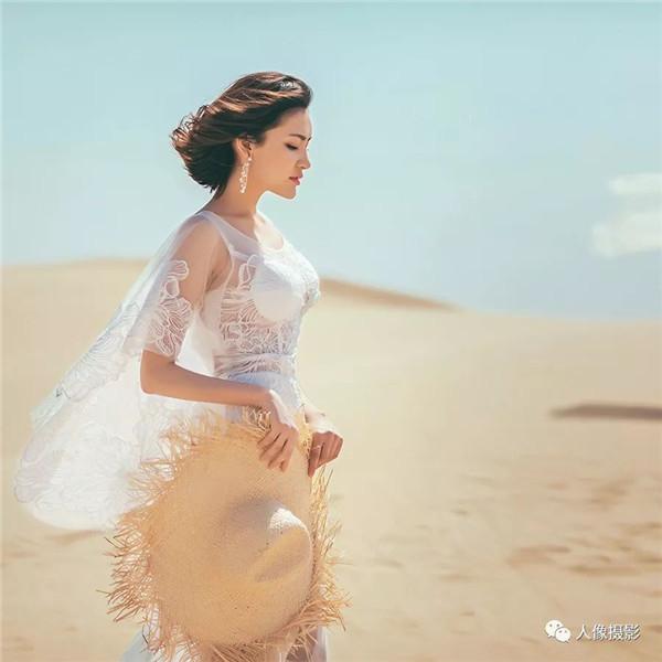 大漠孤烟直,长河落日圆 去沙漠,拍婚纱