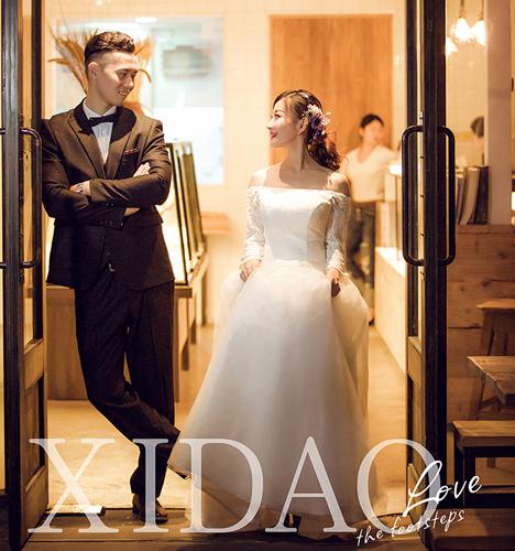 时尚夜景 婚纱照
