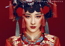 红色元素为主打 打造出喜庆典雅的新娘妆容造型