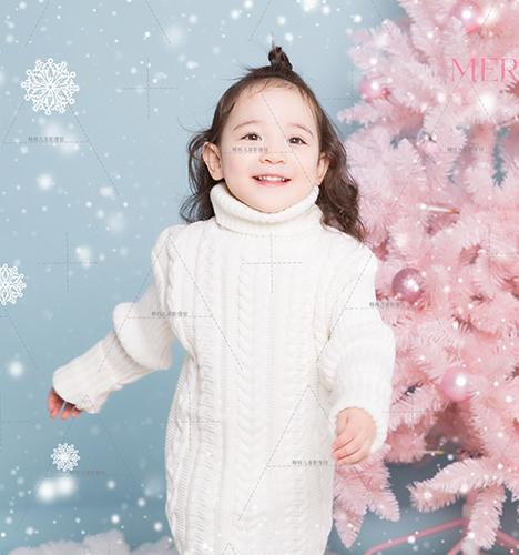 Pink 粉冬圣诞2 儿童摄影