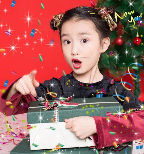 华丽圣诞 儿童摄影