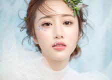 轻盈灵动的韩式新娘盘发 营造出不同的浪漫风情