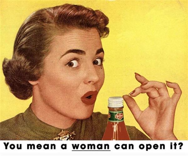 重拍充满性别气息的旧广告 男女角色调转看