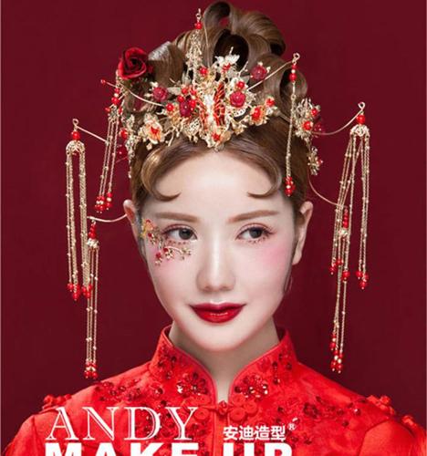 95后减龄新娘中式造型 化妆造型