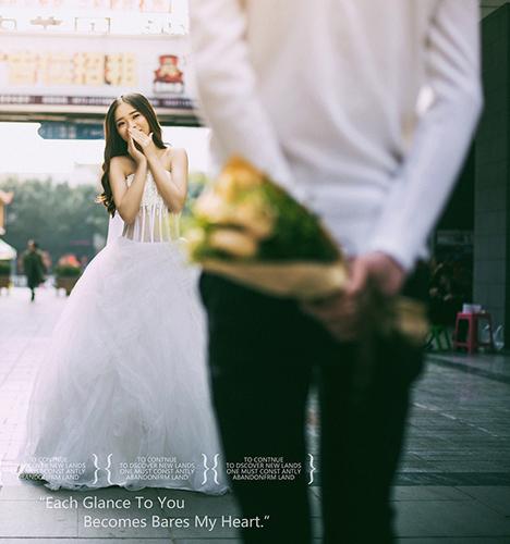 街头爱情 婚纱照