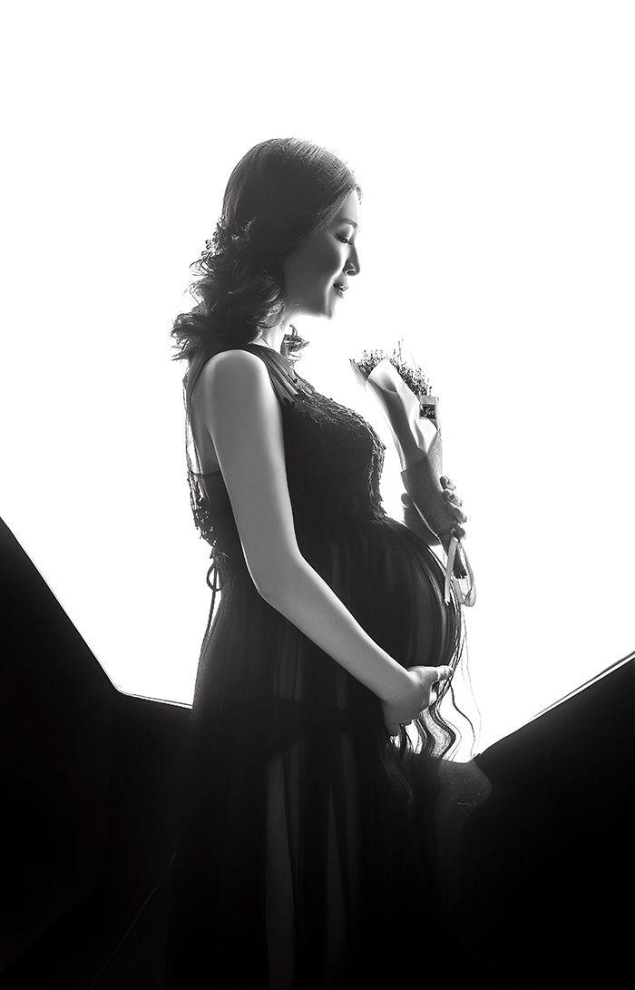 黑白孕妇系列 儿童摄影