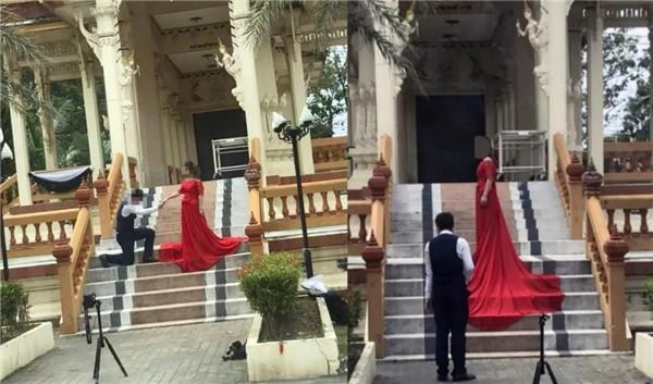 误将泰国火葬场当成寺庙拍婚纱照,这个锅到底谁背?