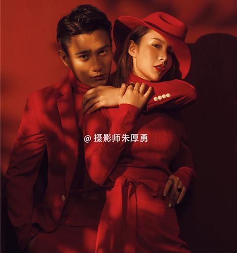 红色激情 婚纱照