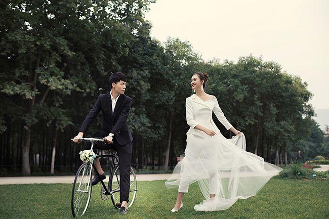 单车恋人 婚纱照