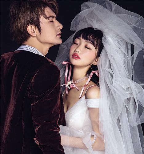 时尚单色 婚纱照