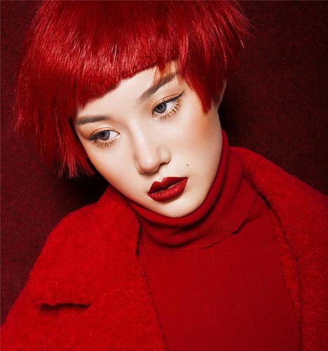 时尚红 写真摄影