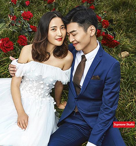 玫瑰园 婚纱照