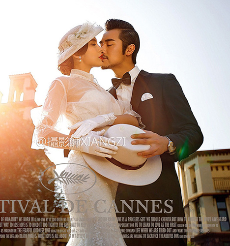 法式浪漫 婚纱照