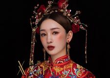 中式新娘秀禾造型 给你不一样的红妆嫁娶
