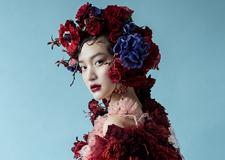 春意盎然的花朵妆容造型 衬托新娘如花般绽放