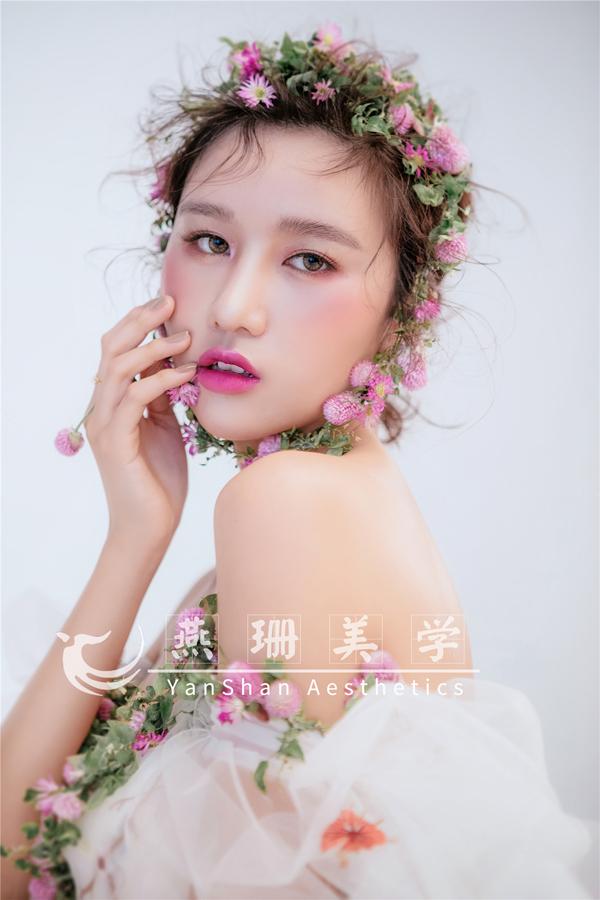 春季鲜花新娘造型_妆面赏析_影楼化妆_黑光网图片