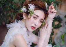 实用鲜花新娘造型