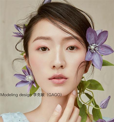 鲜花头饰唯美新娘造型 化妆造型
