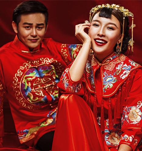 中式婚纱 婚纱照