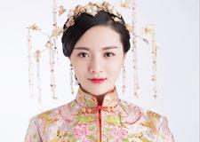 温婉大气的中式新娘造型 宛如画中美人