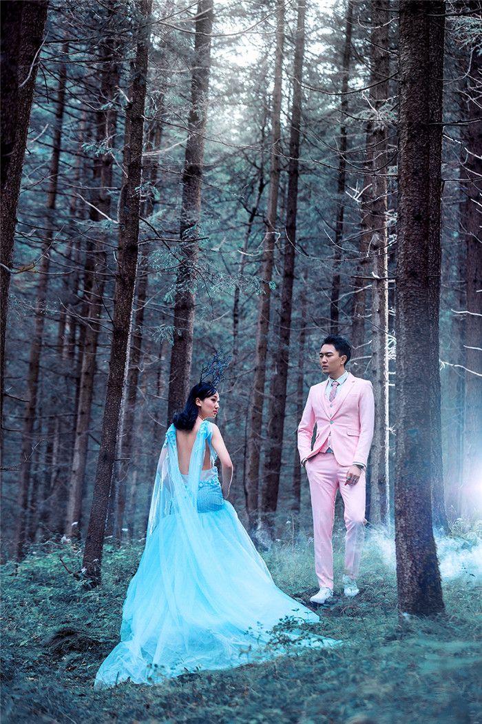 森系风 婚纱照图片