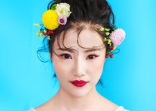 最新影楼资讯新闻-清新鲜花新娘造型欣赏