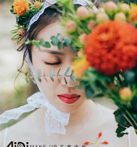 森系新娘 婚纱照