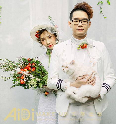 森系新娘风 婚纱照