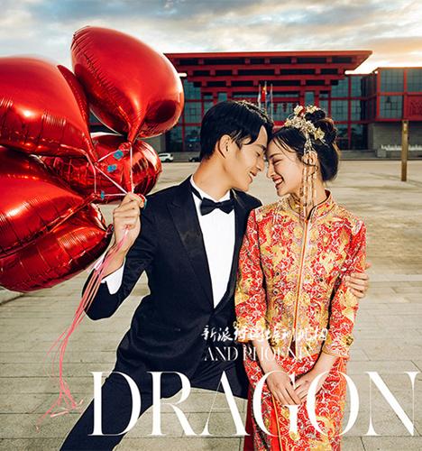 中式风 婚纱照