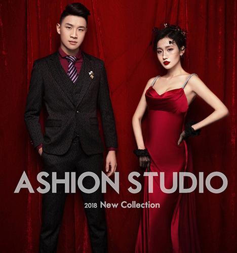 中国红 婚纱照