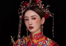 传统中式礼服造型 彰显新娘的知性气质