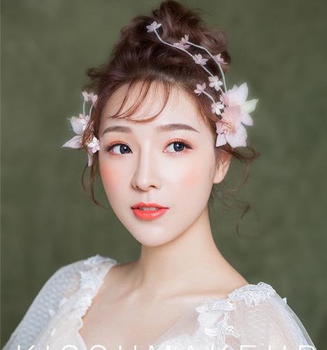 浪漫粉色调妆容 化妆造型