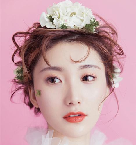 粉丝系唯美新娘造型 化妆造型