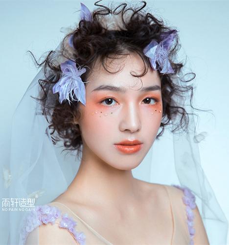 轻复古新娘造型 化妆造型